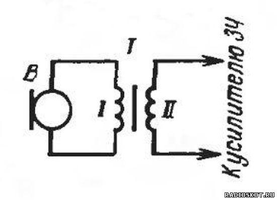 Схема подключения динамического микрофона