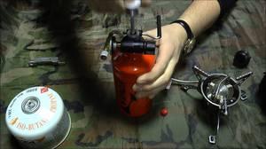 Туристическая бензиновая газовая горелка