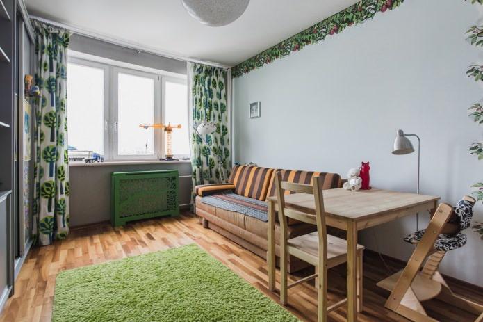 оригинальный деревянный короб зеленого цвета