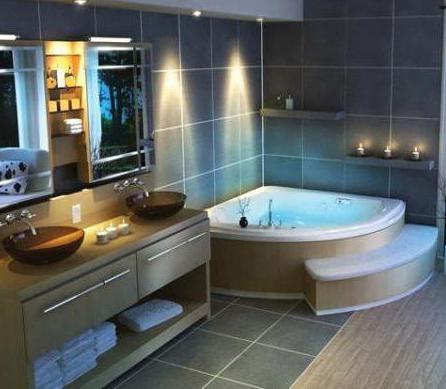 самая маленькая угловая ванна
