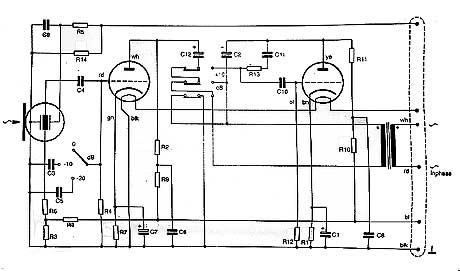 ламповый конденсаторный микрофон AKG C12 схема