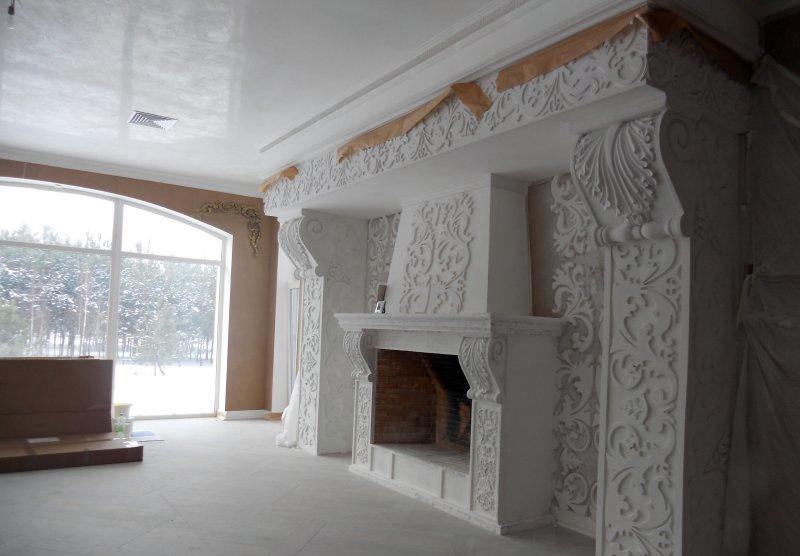 Декорирование обрамления и прилегающих к нему стен в едином стилевом оформлении