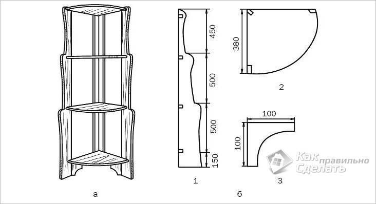 Схема угловой конструкции