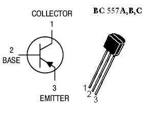 Транзистор Q3 на белом фоне