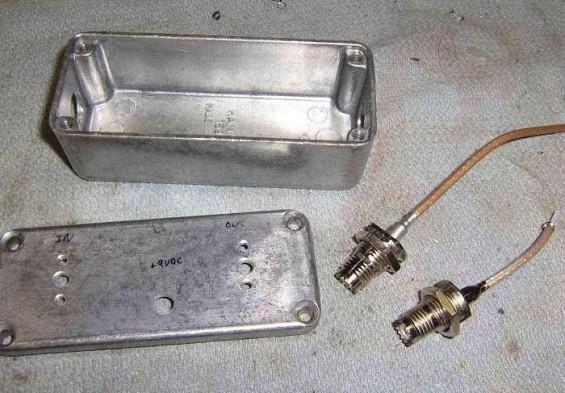 Заготовленный корпус для глушилки