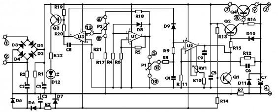 Схема для создания лабораторного блока питания