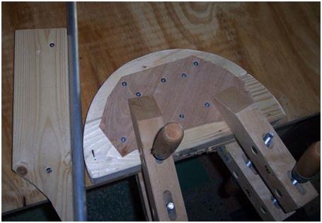 Для тонкостенных труб можно изготовить деревянный трубогиб