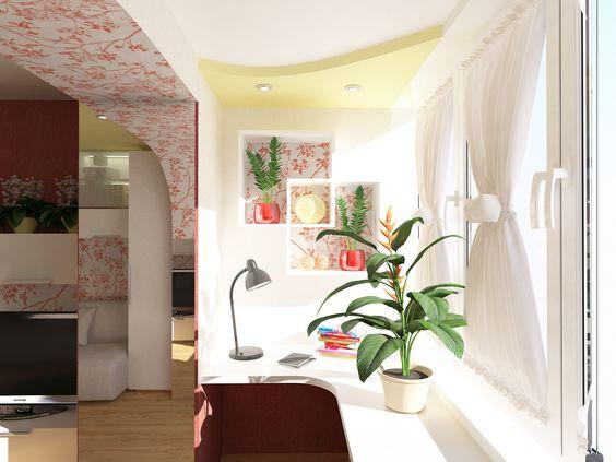 Соединение балкона с комнатой
