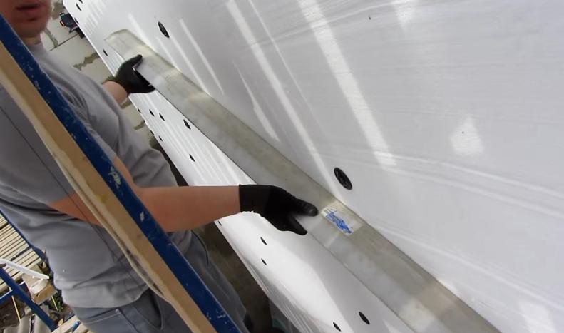 Проверка плоскости зафиксированных плит