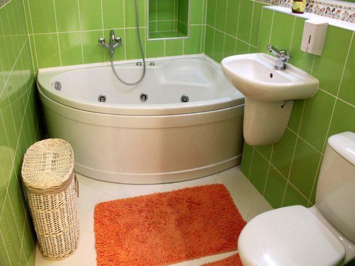 Дизайн маленькой ванной комнаты без перегородок