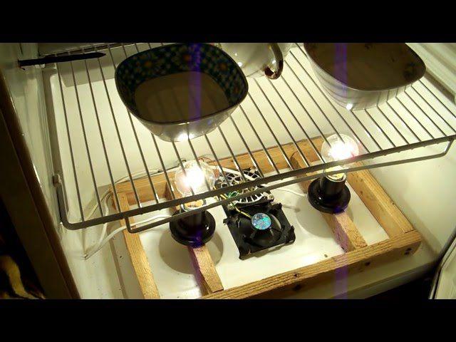 Пример вентилятора, встроенного в инкубатор