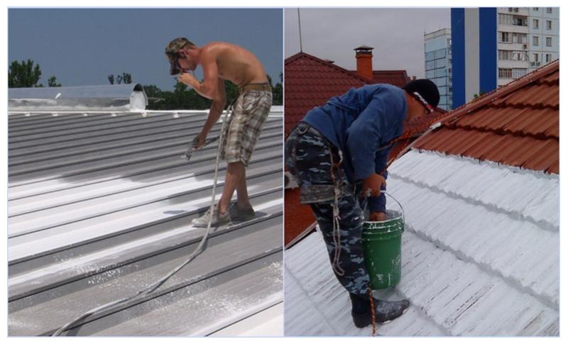 Теплоизоляционная краска на крыше