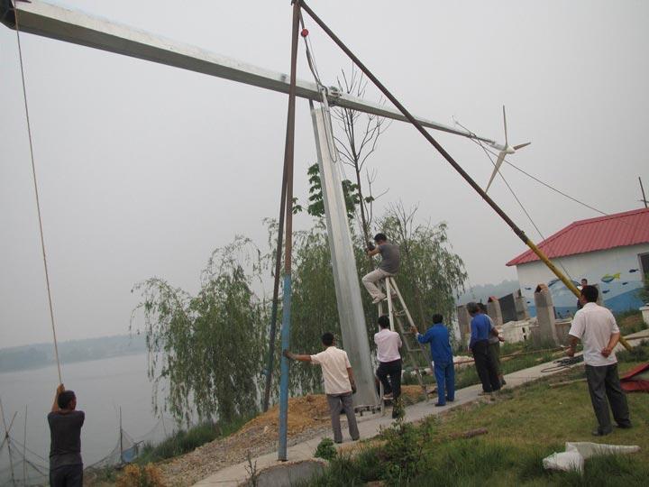 установка ветряка на большую высоту