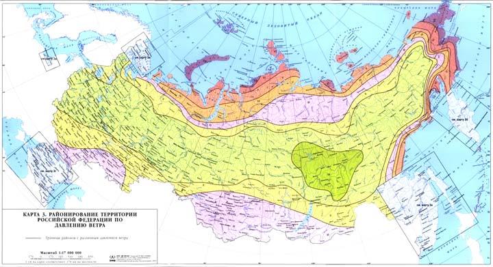 карта ветров по давлению ветра