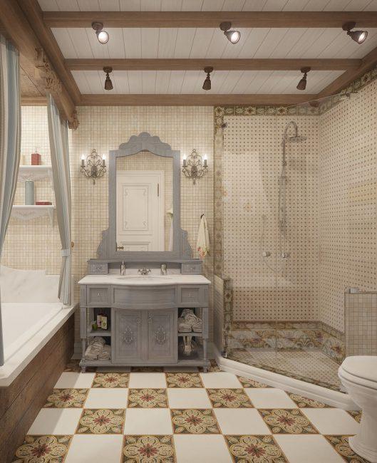 Роскошный вариант для ванной комнаты