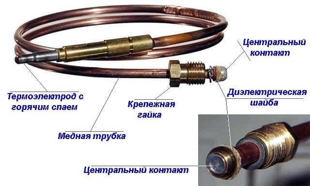 Как устроена термопара водонагревателя