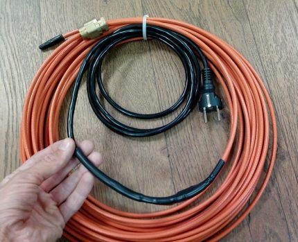 Готовая система для обогрева трубопровода