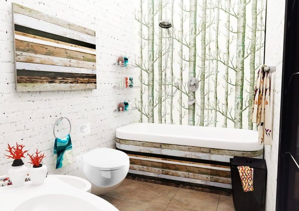 металлические полки в ванной комнате