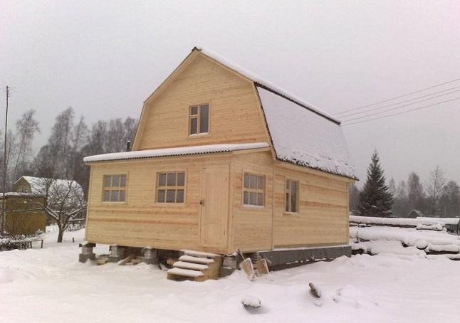 каркасный дом 6 на 6 с верандой