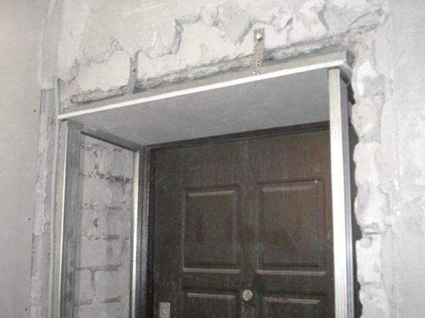 Установка дверных доборов на каркас
