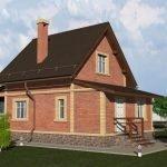 Кирпично-каркасный дом
