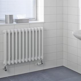 Биметаллический радиатор в санузле частного дома