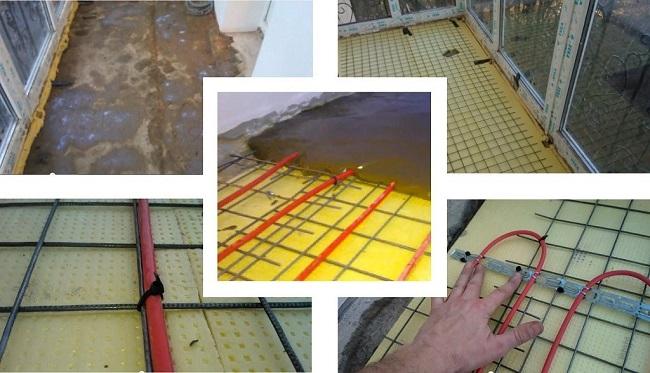Технология монтажа теплого пола на балконе