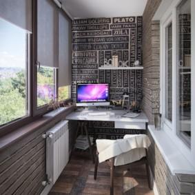 дизайн маленького балкона вид