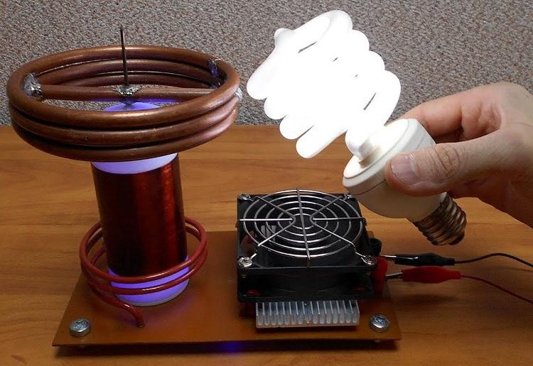 Основные детали трансформатора тесла