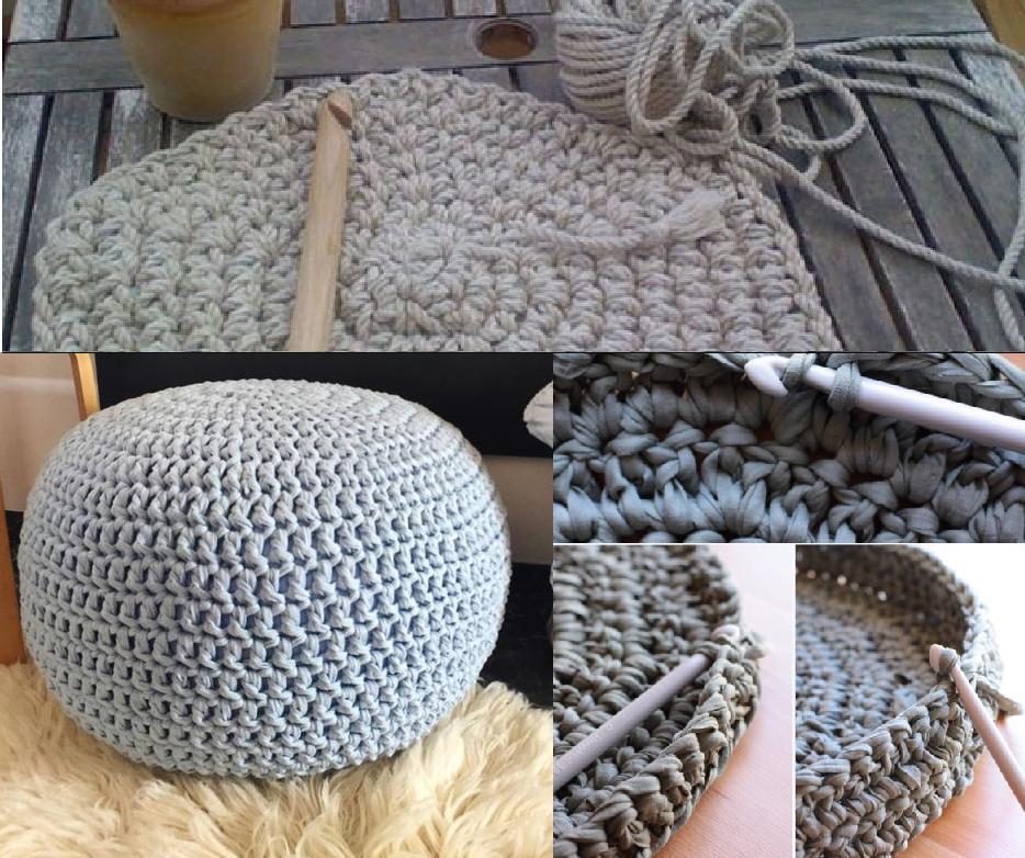 Вязание пуфика