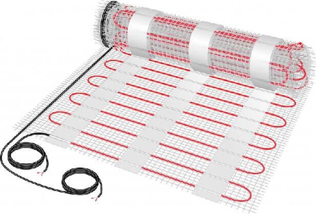 Рулон нагревательного кабельного мата для электрических теплых полов