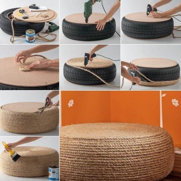 идея изготовления пуфика своими руками