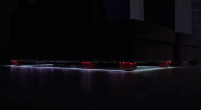 подсветка дивана