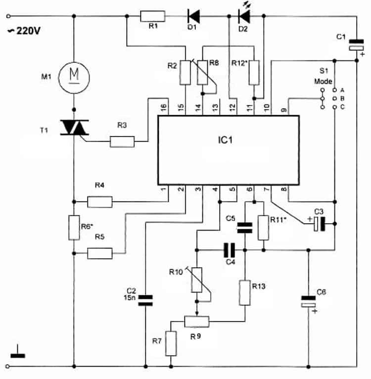 Регулятор мощности с обратной связью