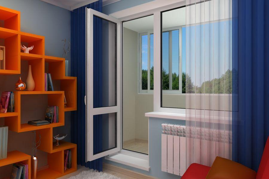 Балконные двери - пластиковые, деревянные, алюминиевые, разм.