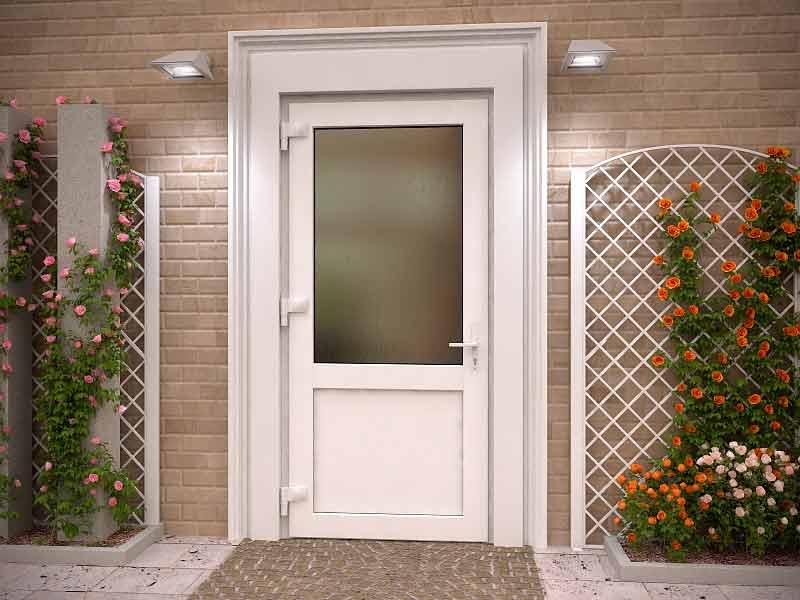 входная дверь в частный дом из металлопластика
