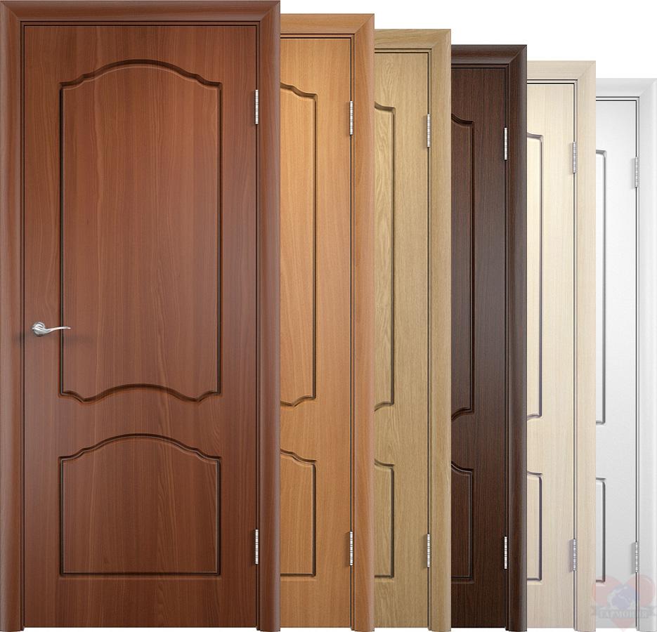 Двери из натуральной древесины шпонированные