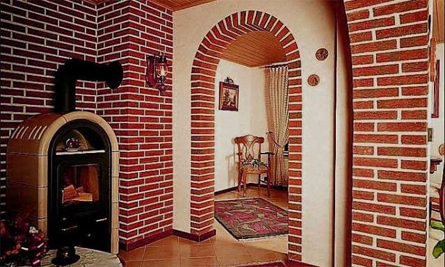 Дверной проем без двери - клинкерная плитка