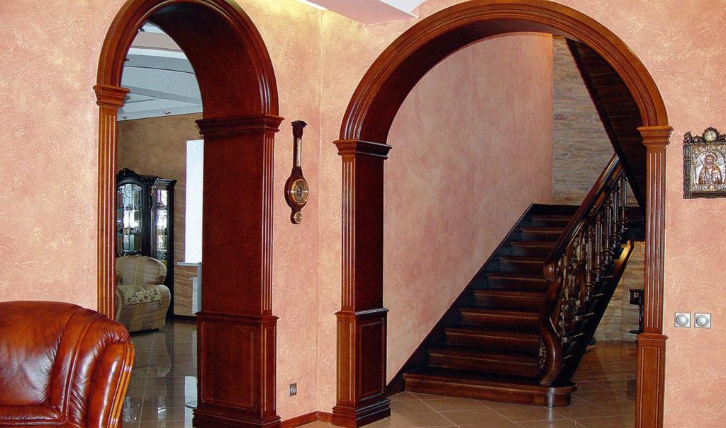 Дверной проем без двери - древесина