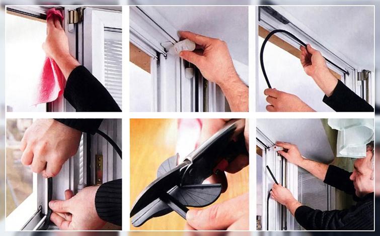 Регулировка пластиковой балконной двери - замена уплотнителя