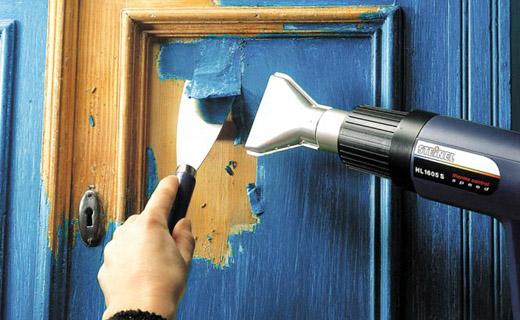 Как очистить старую дверь от краски