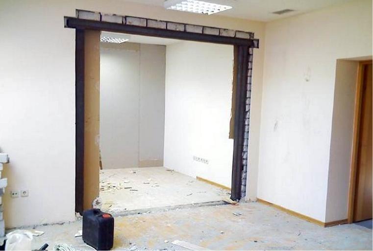 Как уменьшить дверной проем по высоте и ширине