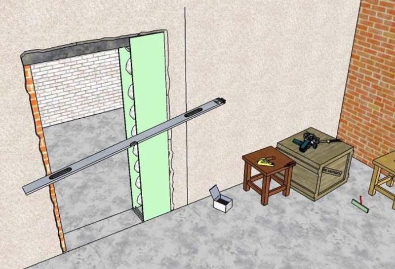 Как увеличить дверной проем по ширине