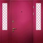Тамбурная дверь с решетчатыми боковыми вставками