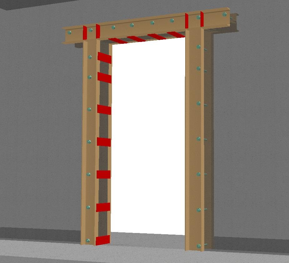 Укрепление дверного проема по периметру