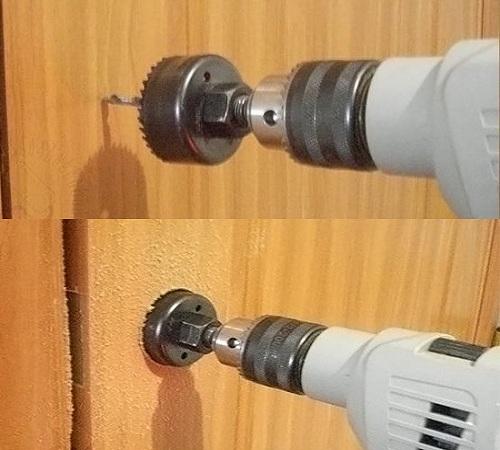 Установка дверной ручки с замком