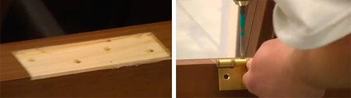 Дверная коробка своими руками - установка петель