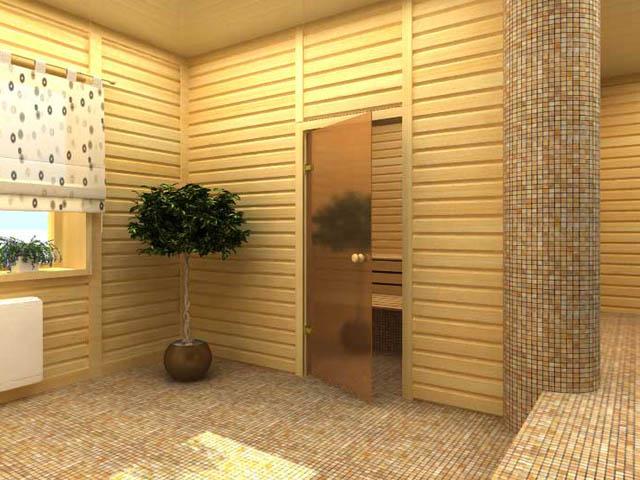 Стеклянные двери в сауну - конструкция