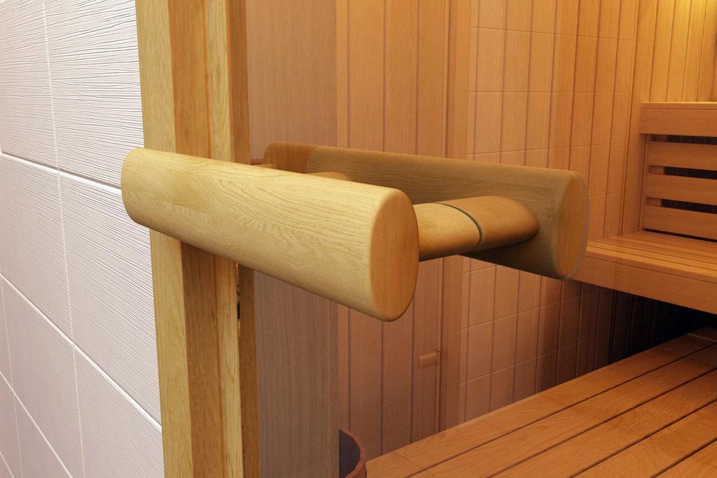 Стеклянная дверь в сауну - фурнитура
