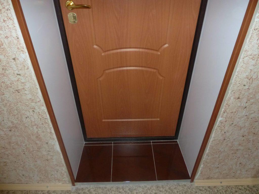 Откосы входных дверей своими руками